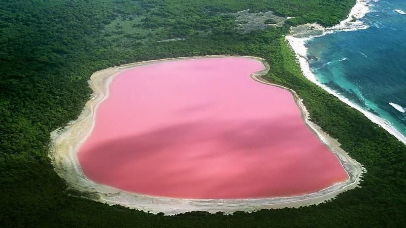 Lake Hillier, Australia. - Top 10 Unusual Natural Wonders