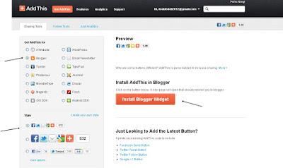 Memasang AddThis Pada Blogger