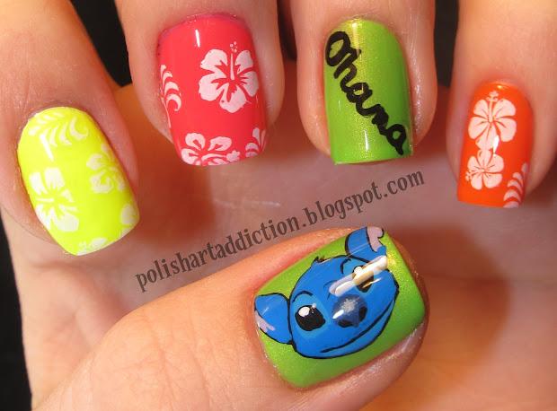 disney lilo & stitch nail art