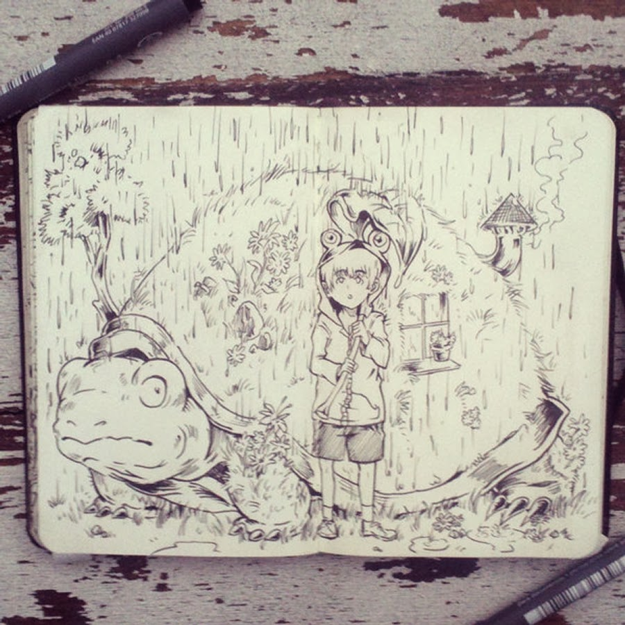 12-#44-Cover-me-Please-365-Days-of-Doodles-Gabriel-Picolo-www-designstack-co