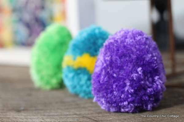 Pom Pom Easter Eggs Tutorial on The Country Chic Cottage