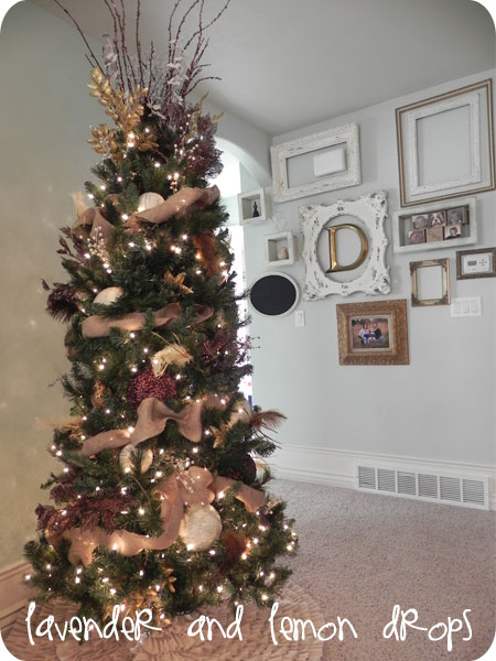 The blackberry vine tuesday to do party 38 and 37 list Brown and gold christmas tree
