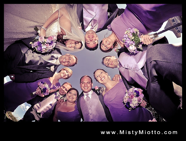 Walt Disney World wedding party photograph