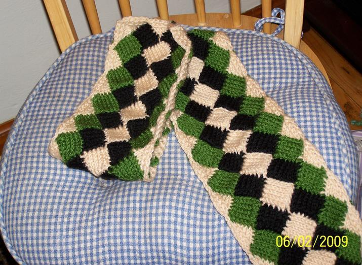 Knitting Patterns Free: Some Pictures Of Entrelac Products For Reference