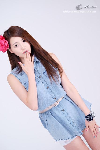 7 Han-Ga-Eun-Denim-Shirt-01-very cute asian girl-girlcute4u.blogspot.com