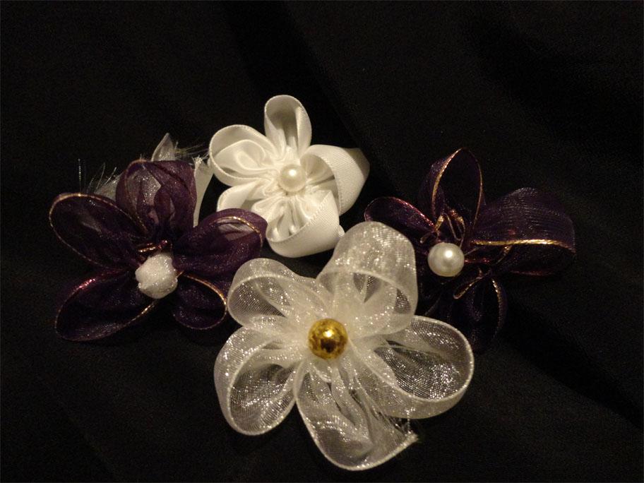 Secrets to making ribbon fabric flowers mock kanzashi ribbon flowers how to make ribbon kanzashi flowers mightylinksfo Images