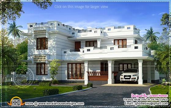 Beautiful flat roof house