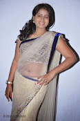 Actress Tanusha Photos in Saree at Present Love Audio-thumbnail-16