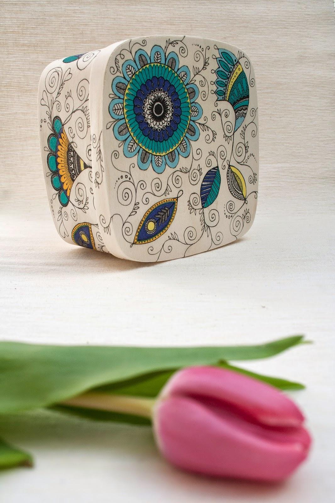 cutie de biuterii handmade