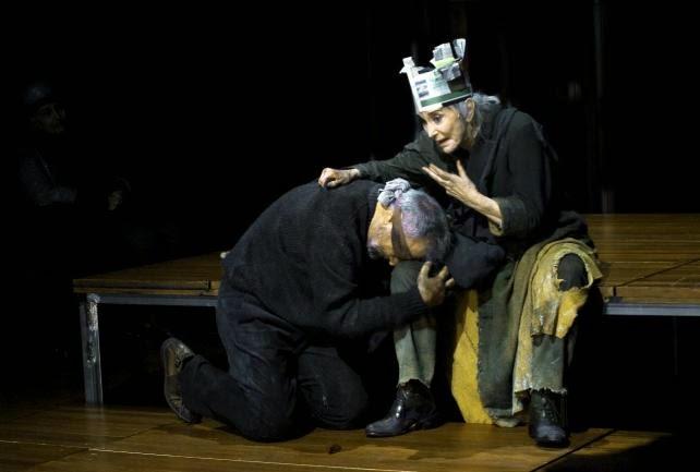 """Nuria Espert en """"El Rey Lear"""". Foto: Ros Ribas."""