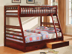 Vintage A twin over full bunk bed is popular among children and growing teens This configuration is popular with families that have children of different ages