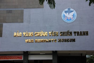 Entrance to the Museum of the vestiges of the Vietnam War