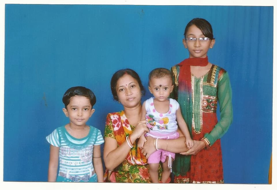 My family in India, 2013.
