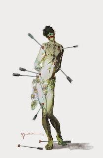 Joker variant cover of Green Arrow #41 by Bill Sienkiewicz