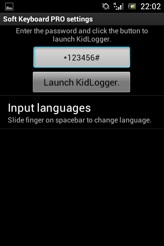 Configuring Kidlogger