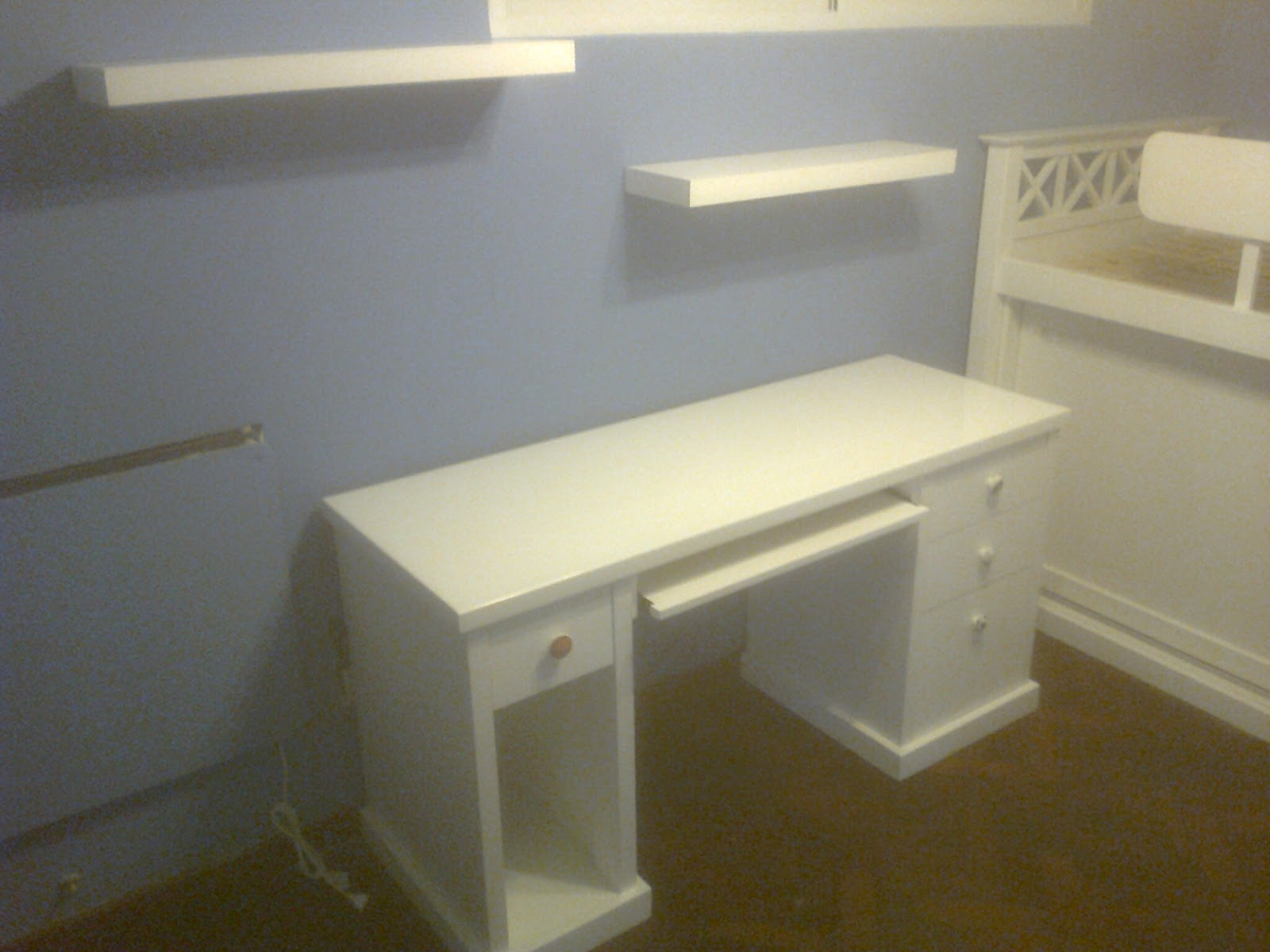 Benjamin escritorio laqueado y cama con placard abajo - Cama con escritorio abajo ...