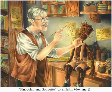 http://smlshin.deviantart.com/art/Pinocchio-and-Geppetto-438545968