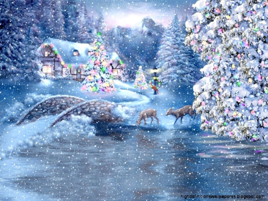 Beautiful christmas scene wallpaper high definitions for Pretty christmas pics