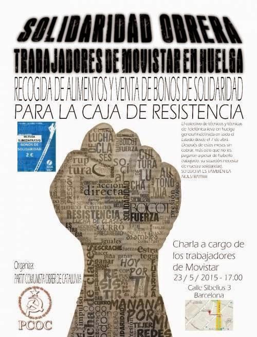 Solidaridad trabajadores Movistar