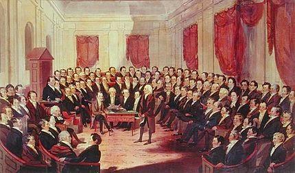Promulgación Constitución de Virginia (EEUU)  - 1776
