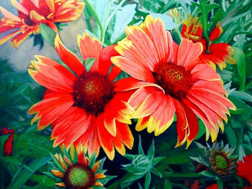 de flores pintura decorativa con flores cuadros modernos de flores