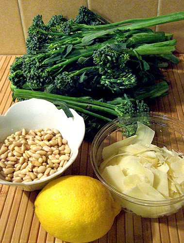 Broccolini, Pine Nuts, Shaved Parmesan, Lemon