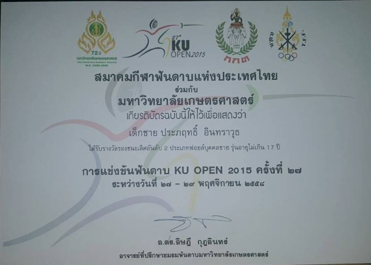 3rd Place U-17 KU Open 2015