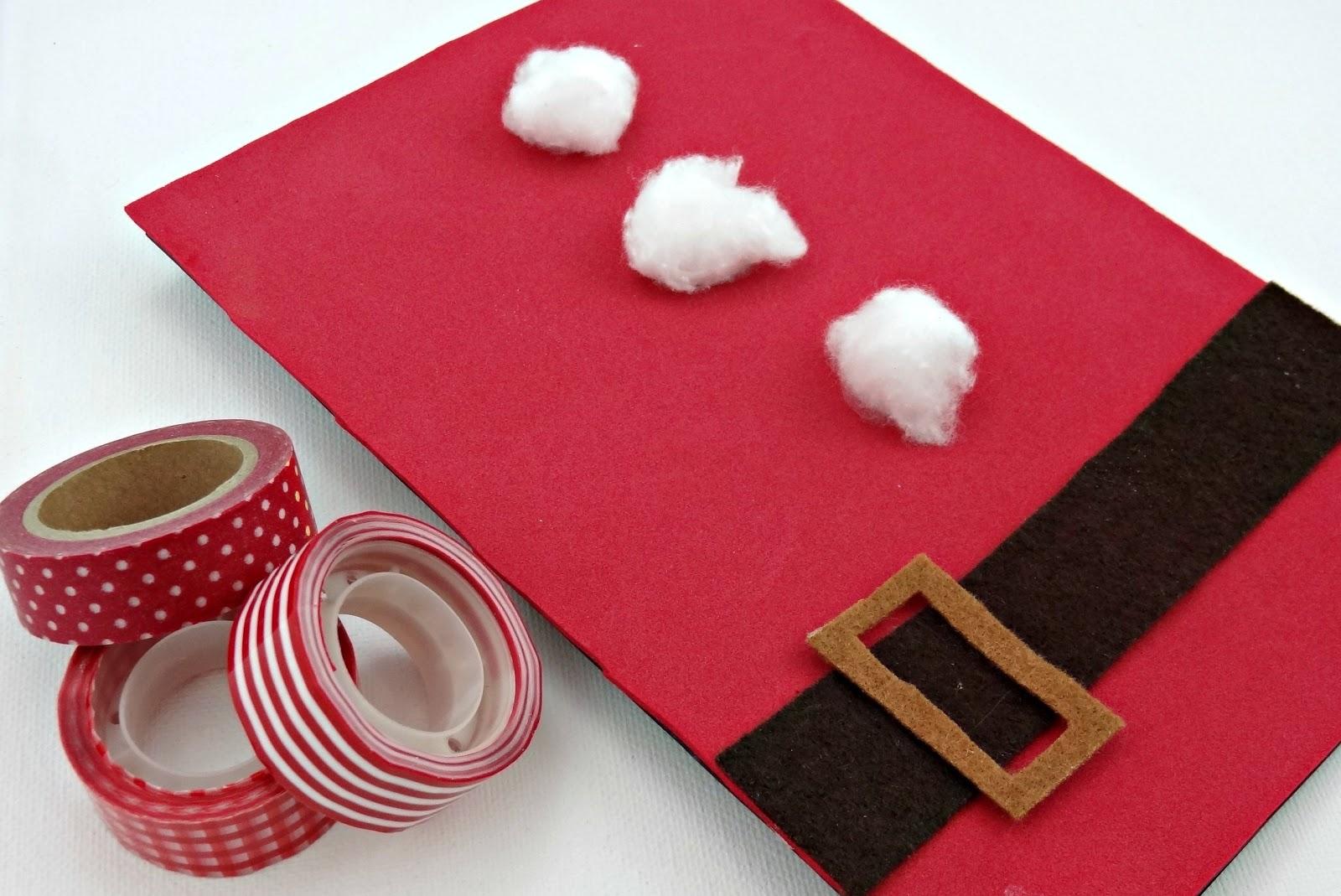Celebra con ana compartiendo experiencias creativas - Tarjeta de navidad manualidades ...