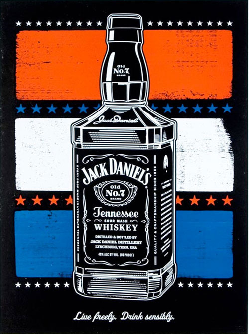 jack daniels print