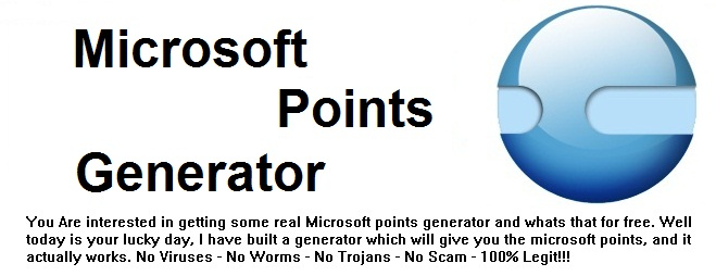 Microsoft Points Generator 2012