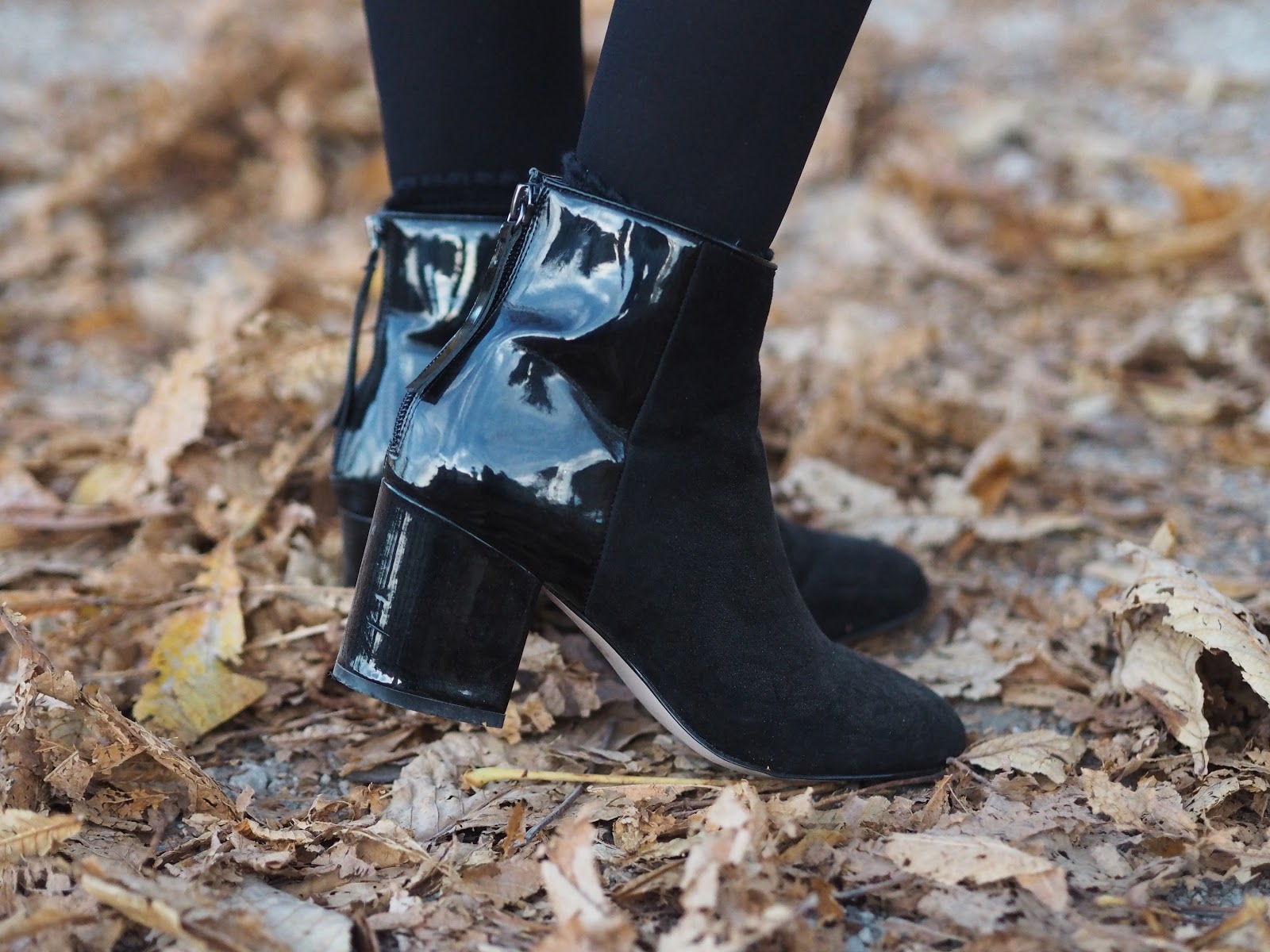 Asos faux leather ankle boots