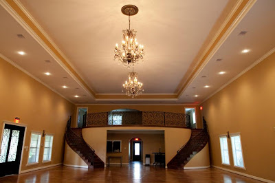 Rounded staircase for reception hall.