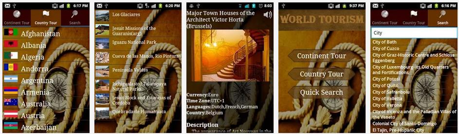 World Tourism - app para viajantes do mundo
