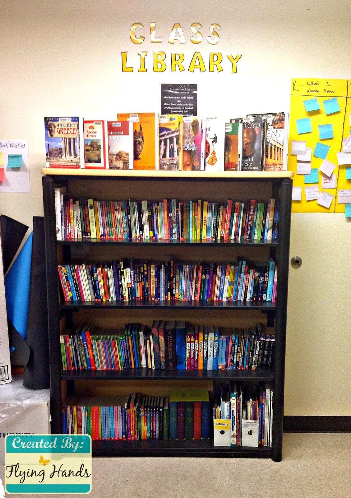 Middle School Reading Classroom Decorations ~ Flying hands teaching middle school classroom library