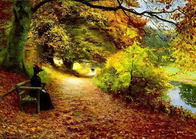Un sentiero in autunno dipinto dall'artista Hans Anderson