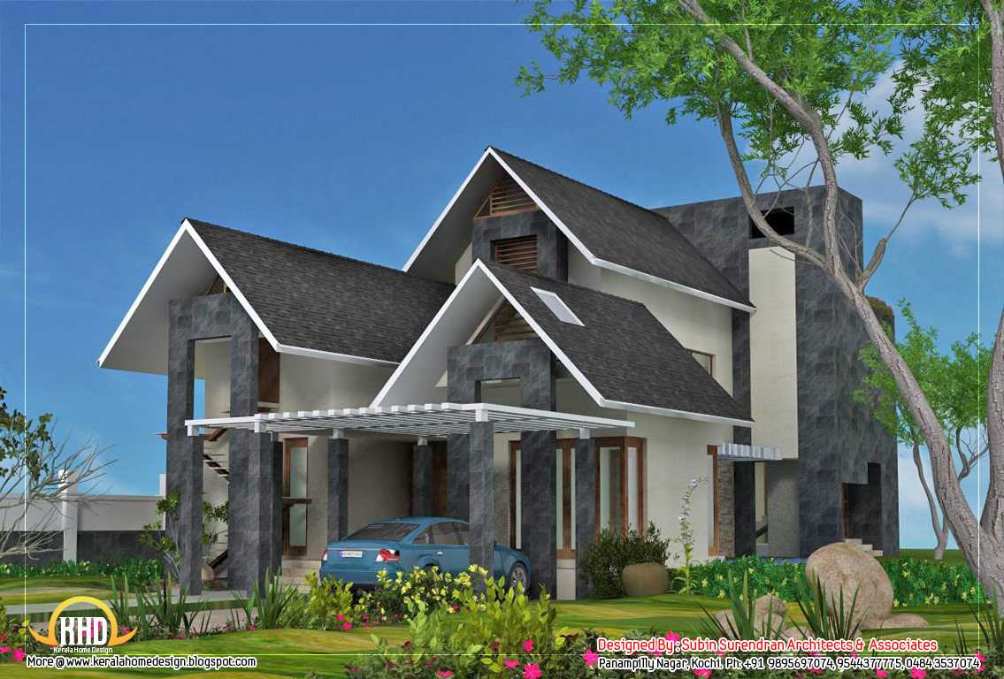6 awesome dream homes plans kerala home design and floor for European house