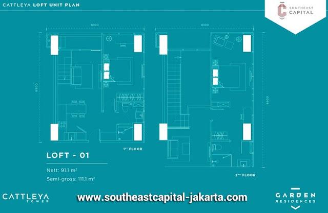 Denah Unit Loft