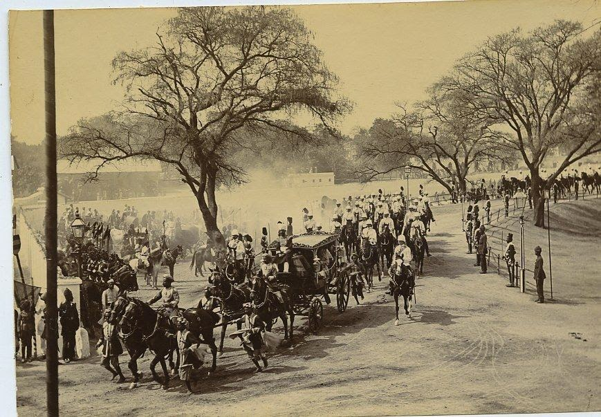 Lord Curzon Viceroy Of India Retuning To Residence c1900s