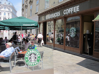 Never far away from Starbucks or McDonalds even in Vienna Austria