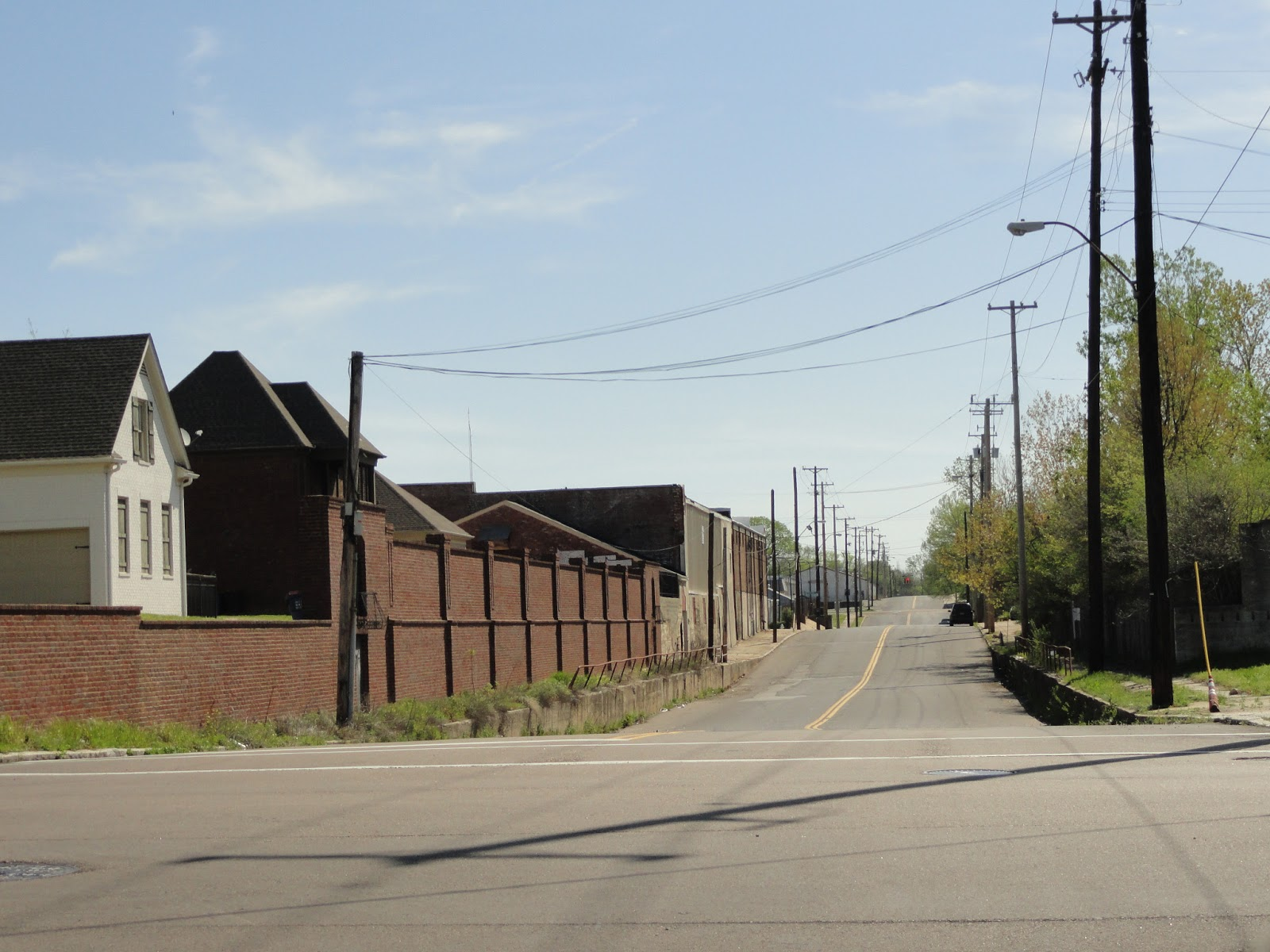 this view down east carolina looking east from main street demonstrates the fact that there were once many railroad overpasses that traversed this street