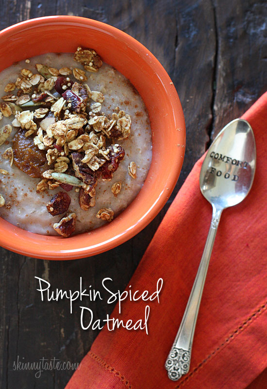 Pumpkin Spiced Oatmeal | Skinnytaste