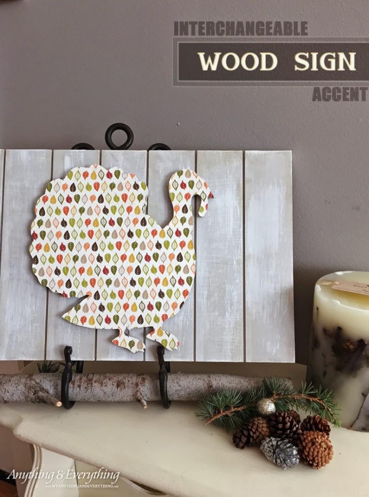 Wood Sign Interchangeable