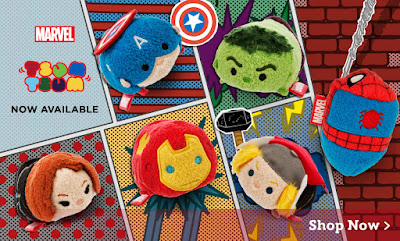 Marvel Tsum Tsum Plush Series 1 by Disney - Spider-Man & The Avengers (Captain America, Iron Man, Thor, Hulk & Black Widow)