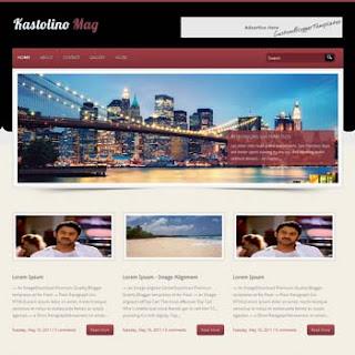 Kastolino Mag Blogger Template