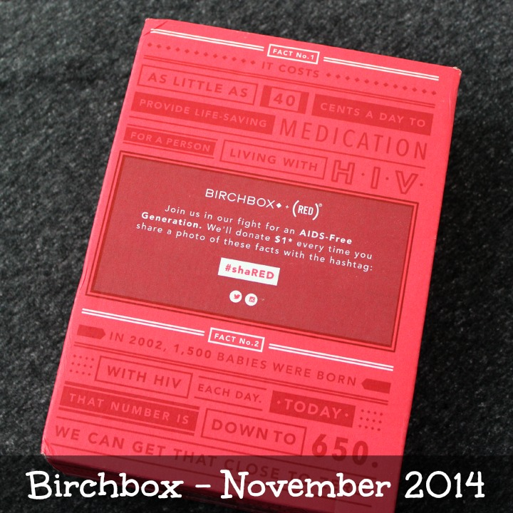 Birchbox November 2014 Review & Unboxing #shaRED RED AIDS HIV