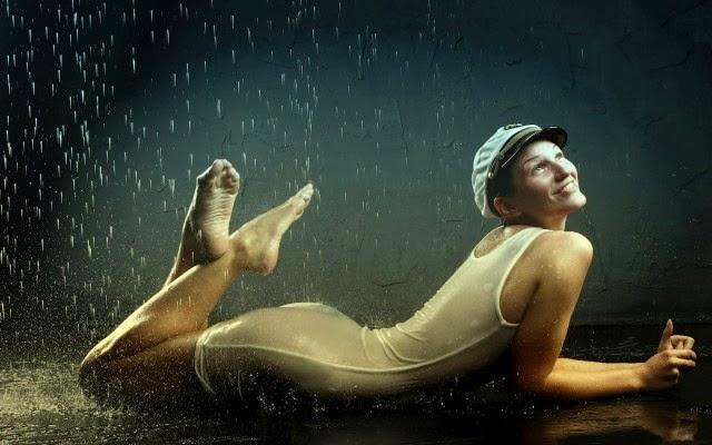 Rain hot sexy girls desktop wallpaper