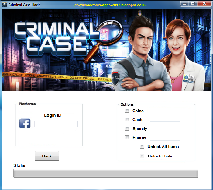 Criminal Case Coin - Cash - Speedy - Energy Hack 2013