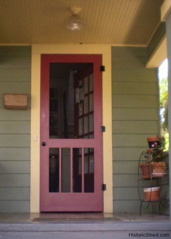 Another Green And Yellow Color Scheme With A Simple Screen Door. Love The  Use Of The Cranberry Accent Color.