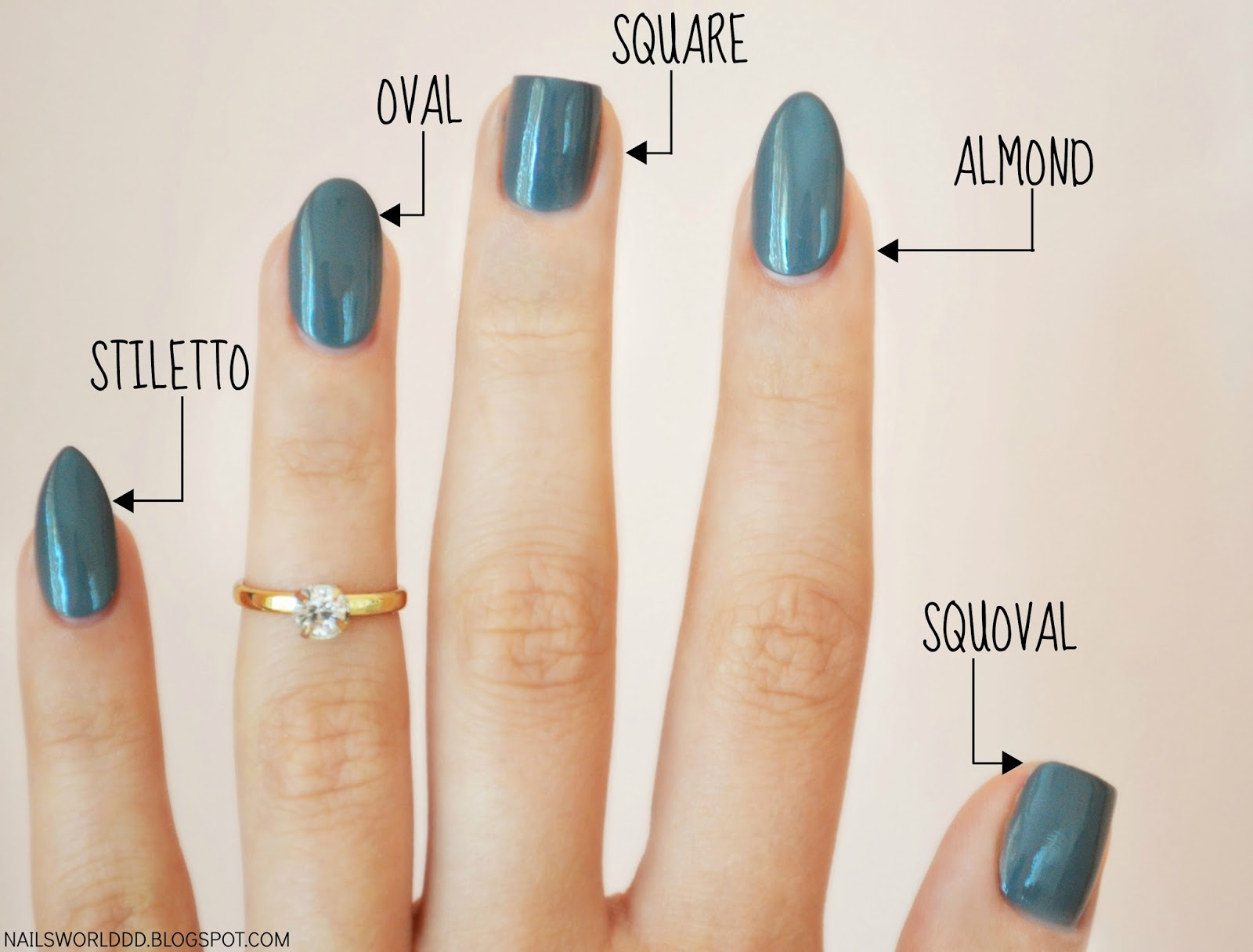 Nail design for fat fingers : Nails world different nail shapes