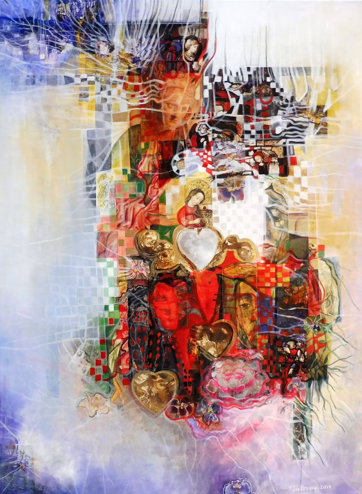 Le coeur de Marie - 60 x 81 cm - 2019